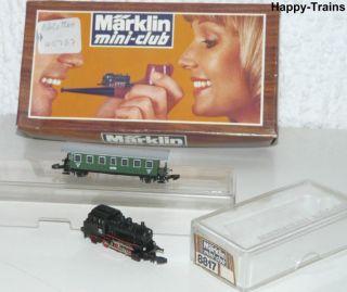 Märklin Mini Club / Dampflok 8800 BR 89 + Personenwagen 8700 Spur Z