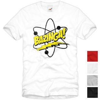 BAZINGA! The Big Bang Theory Vintage T Shirt Sheldon TV Serie Fan