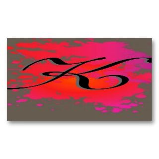 Red Hot Pink Ink Paint Splash Business Card