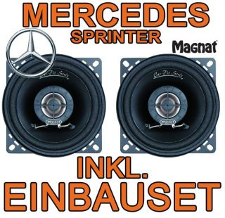 Mercedes Benz Sprinter MAGNAT LAUTSPRECHER BOXEN SET AMATURENBRETT