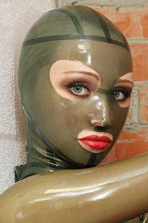 100% Latex Gummi Rubber Maske Mask Hood Catsuit Ganzanzug Anzug