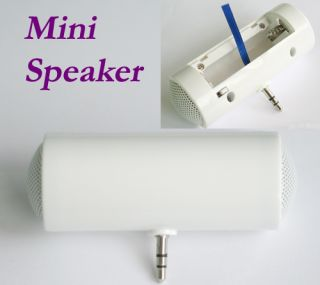 New Mini White Portable Stereo Speaker for iPod iPhone MP3 3.5mm
