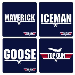 Top Gun   Movie Logo Coaster Set Küche & Haushalt