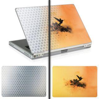 2er Notebook Cover Laptop Aufkleber Tattoo Skin Schutzfolie Netbook