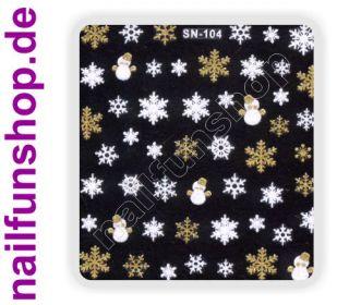 3D Design Nail Sticker SN 104 Christmas Nagelsticker selbstklebend
