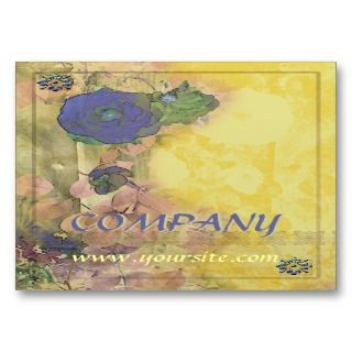 Blue Rose Nouveau Business Card