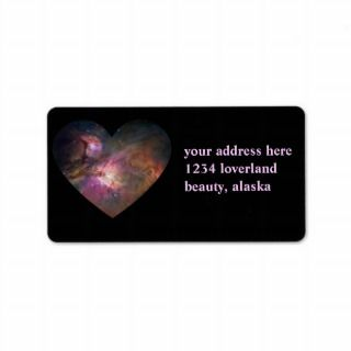 Spaced Heart Personalized Address Labels