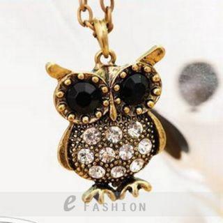 Anhänger Retro Strass Damen Lange Kette necklace NEU 101 0394