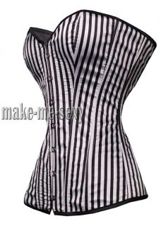 Black & White Vertical Zebra CORSET Bustier Hot S 6XL Women Hot Outfit