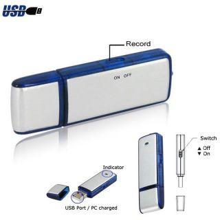 New Mini 4GB USB Hidden Spy Portable Digital Voice Recorder Flash