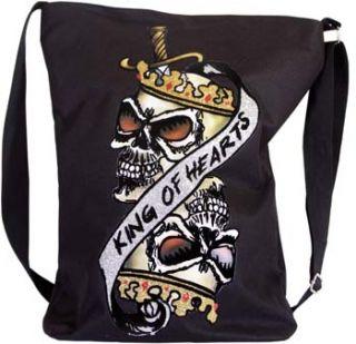 King of Heart Tasche Skull Totenkopf Schultasche Neu