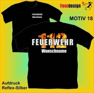 Feuerwehr T Shirt 112 Jugendfeuerwehr Motiv 18