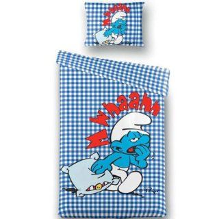 Bettwäsche Schlümpfe Smurf 135x200cm Check Blue: Küche