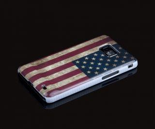SAMSUNG GALAXY S2 i9100 USA AMERIKA RETRO FLAGGE SCHUTZ HÜLLE CASE