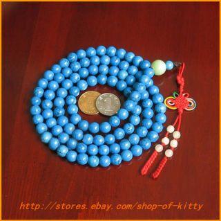 small Nice Tibet turquoise Stone 108 God Buddha Beads