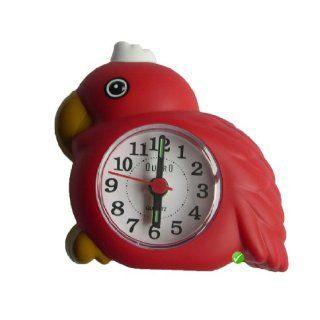 Wecker Papagei mit Vogel Gezwitscher Weckton   Farbe Rot