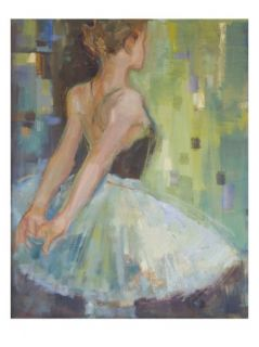 Teenage Girl (12 15) Standing with Hands Behind Back, Rear View Giclee Print