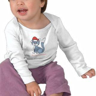 Meowy Christmas Santa Cat Tee Shirts