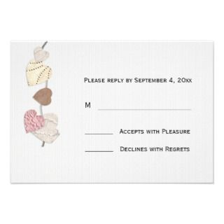 Love Letters RSVP Custom Announcement by StarStock