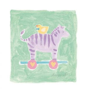 Zebra Toy Print by Karen Anagnost