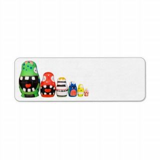 cartoon custom family reunion funny monsters return address labels