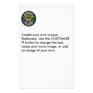 Quigley Old Badge & Tartan Customized Stationery
