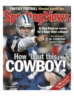 Dallas Cowboys QB Tony Romo   December 15, 2006 Poster