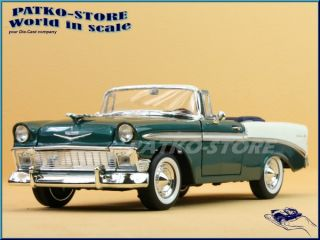 CHEVROLET Bel Air   1956   greenmetallic / white   YATMING 118