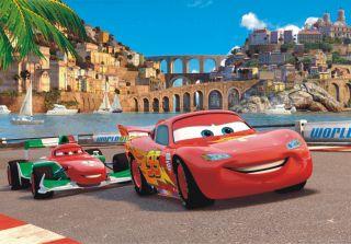 Tapete Disney Cars 2 McQueen & Bernoulli Foto 160 x 115 cm