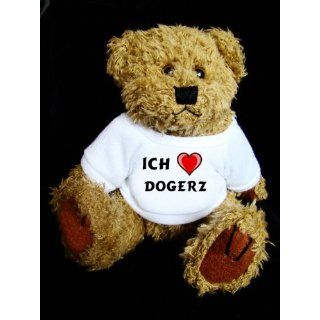 Teddy Bear mit Ich liebe Dogerz t shirt Spielzeug