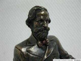Guiseppe Verdi Komponist Figur Statue Büste 25cm Bronze