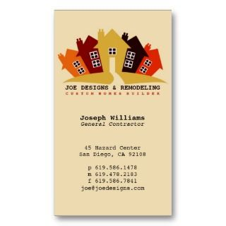 Business Cards, 182 General Contractor Business Card Templates