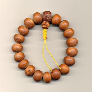 Tolle Mala aus Thailand Buddha Teakholz Edelholz HUNG