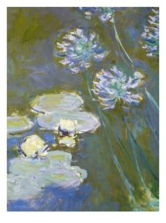 Waterlilies and Agapanthus, 1914 17 (Detail of 82323) (Oil on Canvas) Giclee Print by Claude Monet