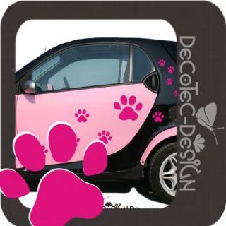 A124 Pfoten Katzen Tatze Set Autoaufkleber Auto Sticker