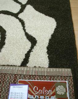 AUKTION schwerer Web   Teppich BALTA SALSA Blume weiss 120x170 NEU Top