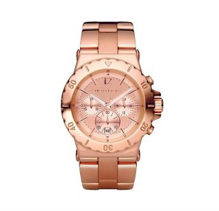 NEW 2012 MICHAEL KORS ROSE GOLD CHRONOGRAPH STAINLESS STEEL WOMENS