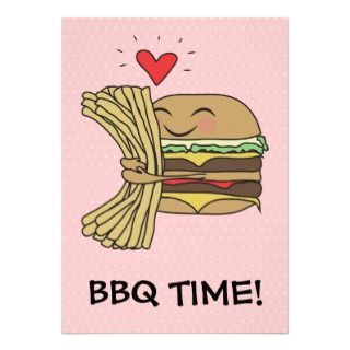 Burger Loves Fries BBQ Invites