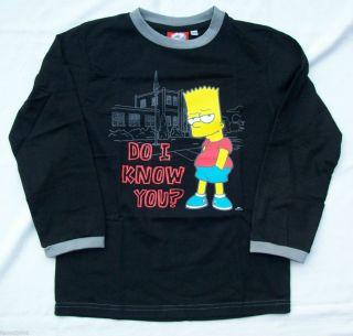 Simpsons Bart Sweatshirt Shirt 122/128 + 134/140