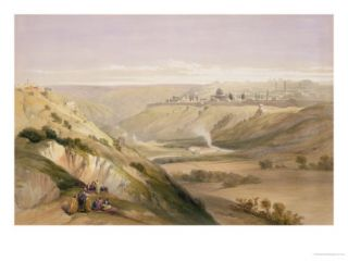 Jerusalem, April 5th 1839, Plate 18 from Volume I of The Holy Land Giclee Print by David Roberts