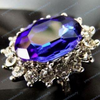 Silber Saphir Ring Zirkonia safir Glas Kopie Schmuck