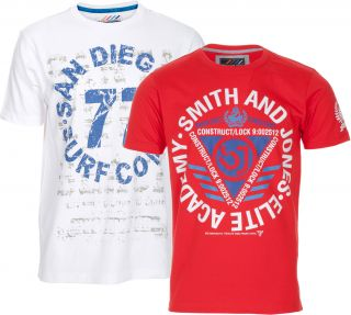 Blue Inc Mens Smith and Jones Assorted 2 Colour Pack T Shirt Deal BNWT