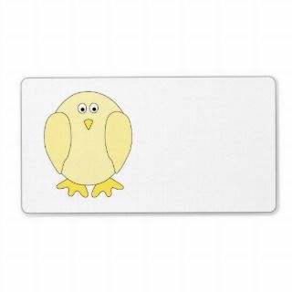 Cute Light Yellow Bird. Cartoon Chick. Personalized Shipping Labels