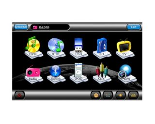 Din Digital Autoradio Navi GPS Bluetooth Bild in Bild