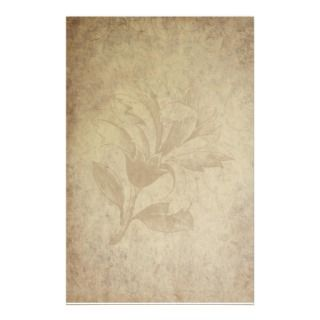 Floral Antiqued Style Stationery Paper