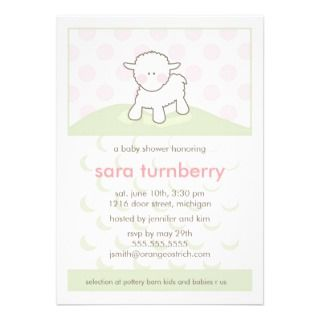 little lamb baby shower invitation ideas give an invitation to