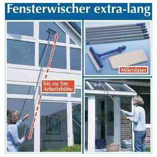 WENKO 7161500 Fensterwischer   extra lang, Microfaser, Wischkopf mit