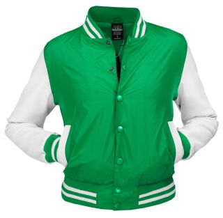 URBAN CLASSICS DAMEN LIGHT COLLEGE JACKE BASEBALL VARSITY RETRO LEDER