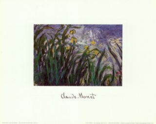 Iris Jaune et Mauves, 1924 25 Posters by Claude Monet