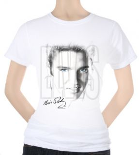 Juniors Elvis   Blue Eyes Shirt